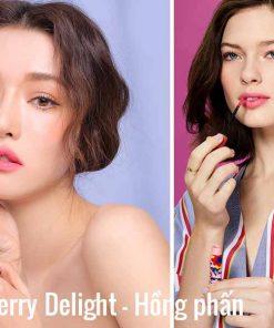 Son kem lì 3ce velvet lip tint Strawberry Delight thiết kế dành riêng cho những cô bạn có nước da trắng hồng