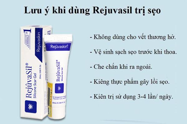 Một số lưu ý khi dùng Kem trị sẹo Scar Rejuvasil để đạt hiệu quả tốt nhất